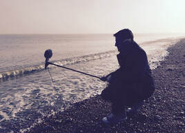 Field recording on Deal beach